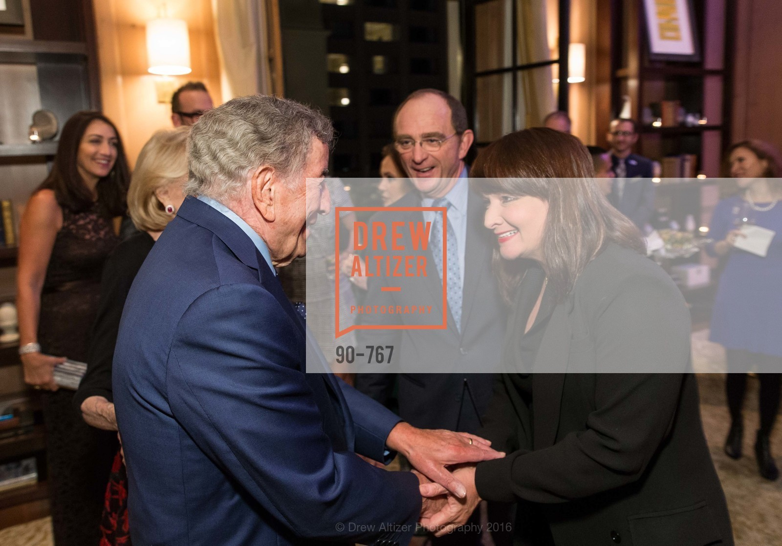 Tony Bennett, Tom Klein, Barbara Klein, A Special Reception with Tony Bennett, The Fairmont, San Francisco, The Penthouse Suite, January 26th, 2016,Drew Altizer, Drew Altizer Photography, full-service agency, private events, San Francisco photographer, photographer california