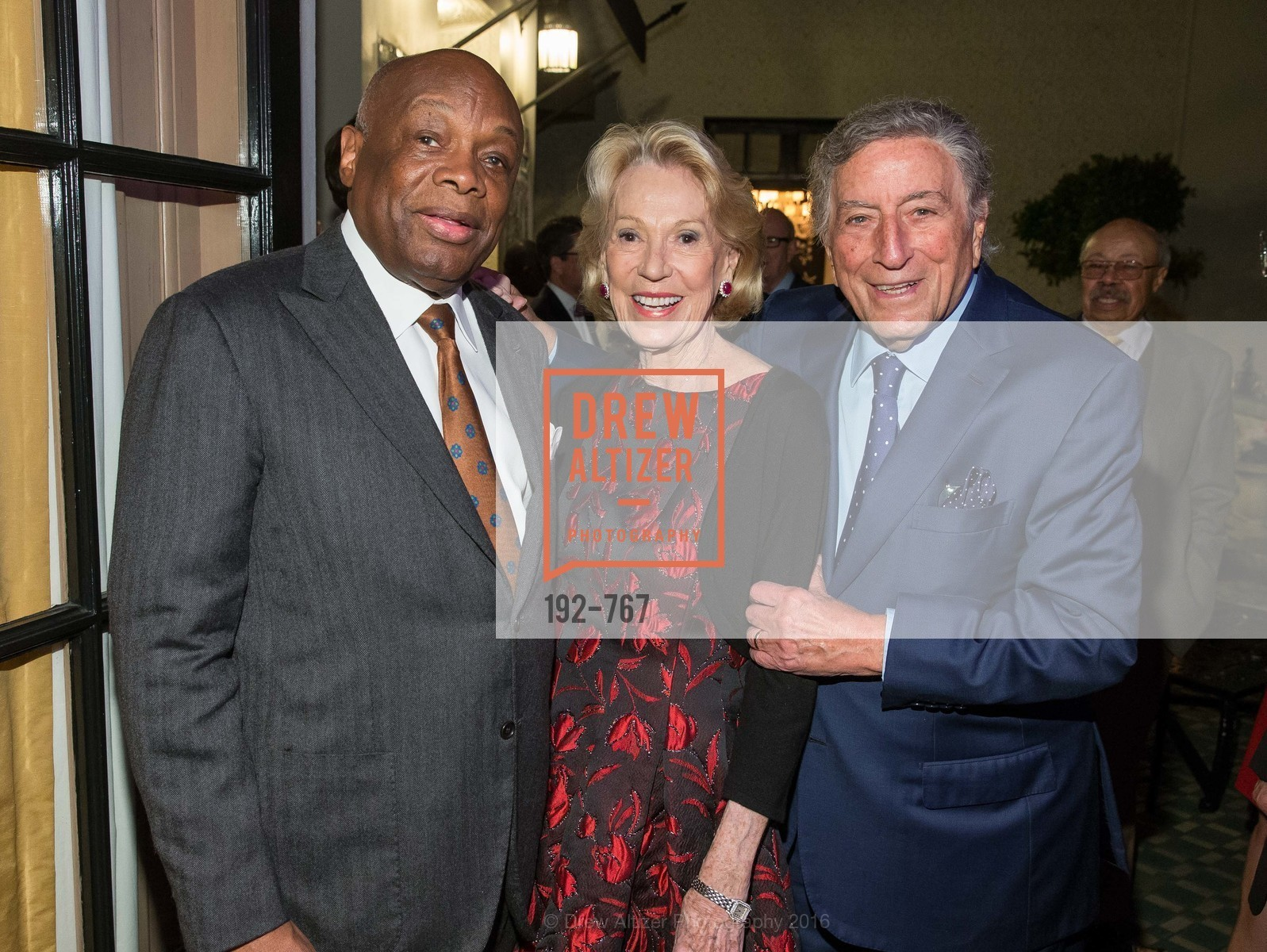 Willie Brown, Charlotte Shultz, Tony Bennett, A Special Reception with Tony Bennett, The Fairmont, San Francisco, The Penthouse Suite, January 26th, 2016,Drew Altizer, Drew Altizer Photography, full-service agency, private events, San Francisco photographer, photographer california