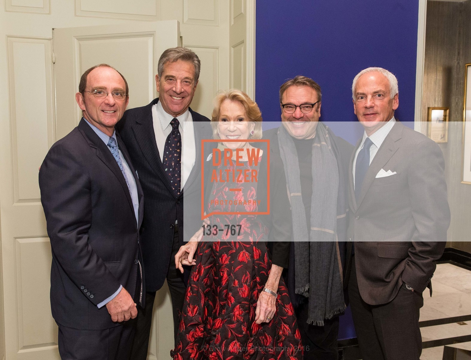 Tom Klein, Paul Pelosi, Charlotte Shultz, Stanlee Gatti, Jeff Farber, A Special Reception with Tony Bennett, The Fairmont, San Francisco, The Penthouse Suite, January 26th, 2016