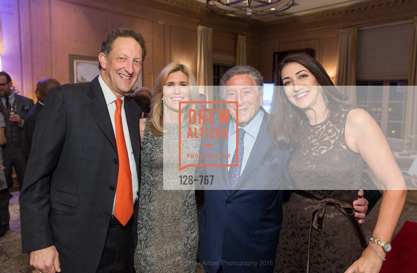 Larry Baer, Susan Benedetto, Tony Bennett, Pam Baer, A Special Reception with Tony Bennett, The Fairmont, San Francisco, The Penthouse Suite, January 26th, 2016,Drew Altizer, Drew Altizer Photography, full-service agency, private events, San Francisco photographer, photographer california