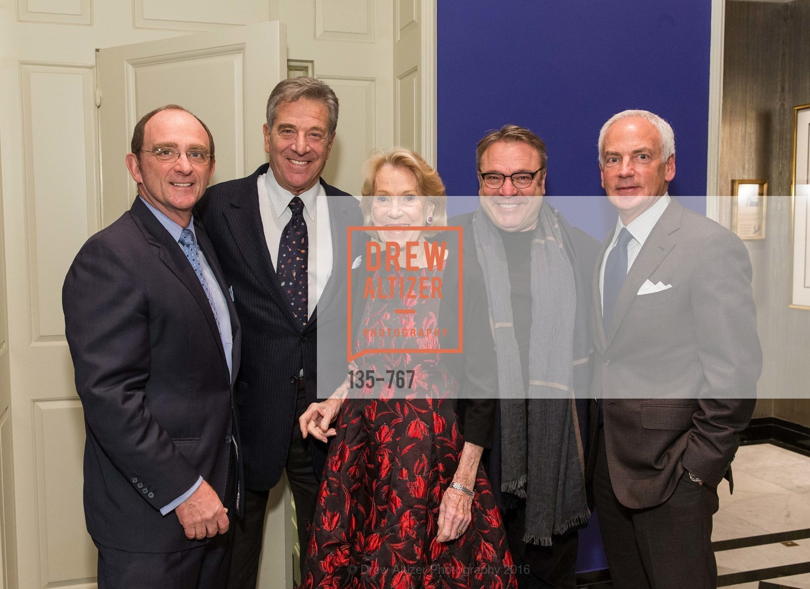 Tom Klein, Paul Pelosi, Charlotte Shultz, Stanlee Gatti, Jeff Farber, A Special Reception with Tony Bennett, The Fairmont, San Francisco, The Penthouse Suite, January 26th, 2016,Drew Altizer, Drew Altizer Photography, full-service agency, private events, San Francisco photographer, photographer california