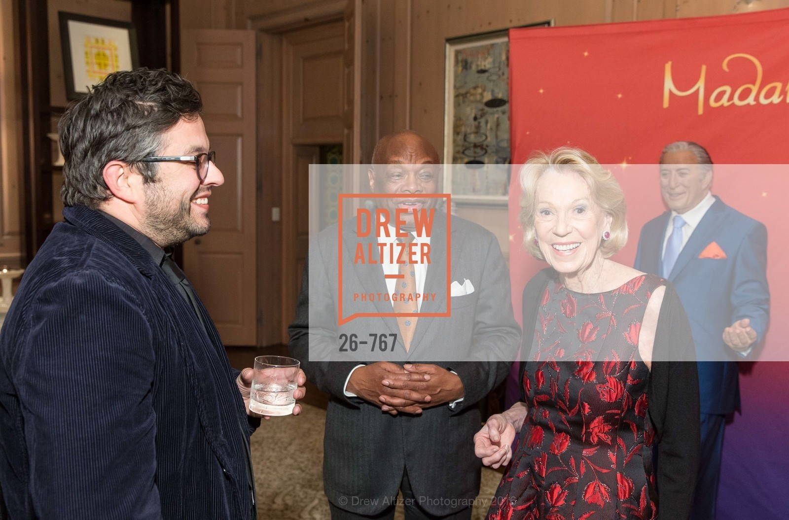 Matthew Goudeau, Willie Brown, Charlotte Shultz, A Special Reception with Tony Bennett, The Fairmont, San Francisco, The Penthouse Suite, January 26th, 2016,Drew Altizer, Drew Altizer Photography, full-service agency, private events, San Francisco photographer, photographer california