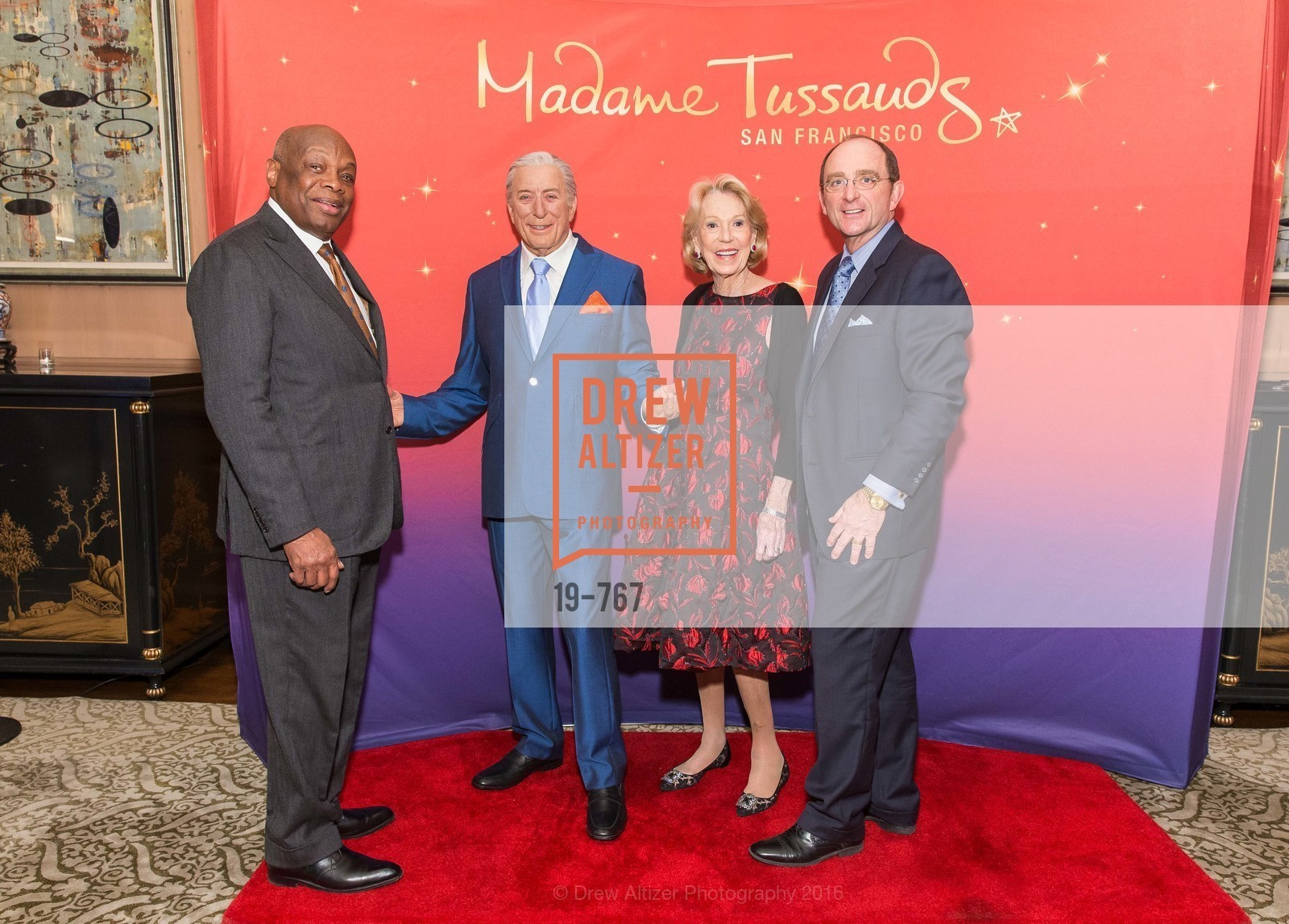 Willie Brown, Charlotte Shultz, Tom Klein, A Special Reception with Tony Bennett, The Fairmont, San Francisco, The Penthouse Suite, January 26th, 2016,Drew Altizer, Drew Altizer Photography, full-service agency, private events, San Francisco photographer, photographer california