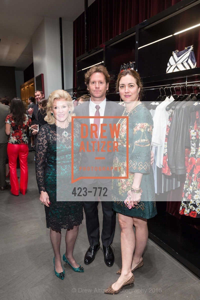Dede Wilsey, Trevor Traina, Alexis Traina, Dolce and Gabbana Boutique Opens Spring, Dolce and Gabbana Boutique, January 27th, 2016,Drew Altizer, Drew Altizer Photography, full-service agency, private events, San Francisco photographer, photographer california