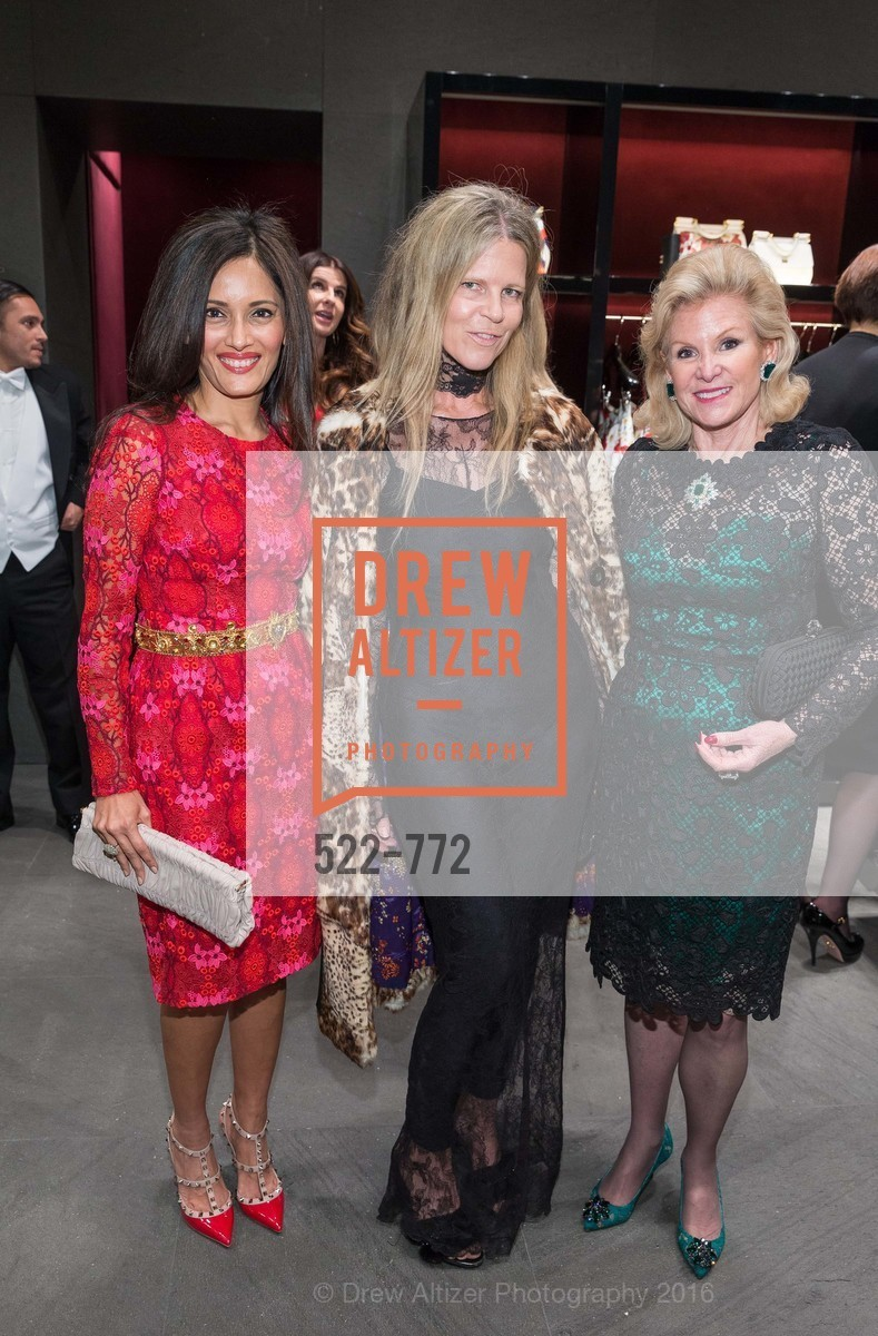 Komal Shah, Yvonne Force Villareal, Dede Wilsey, Dolce and Gabbana Boutique Opens Spring, Dolce and Gabbana Boutique, January 27th, 2016,Drew Altizer, Drew Altizer Photography, full-service agency, private events, San Francisco photographer, photographer california