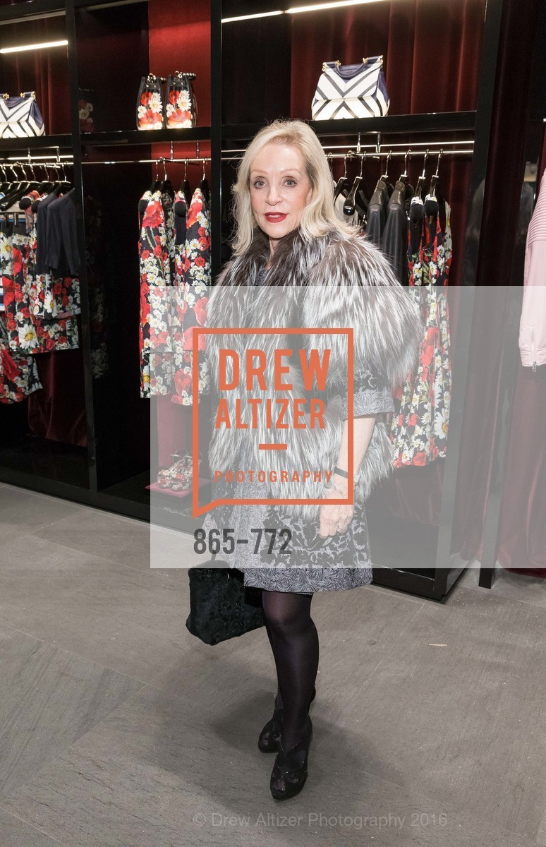 Barbara Brown, Dolce and Gabbana Boutique Opens Spring, Dolce and Gabbana Boutique, January 27th, 2016,Drew Altizer, Drew Altizer Photography, full-service agency, private events, San Francisco photographer, photographer california