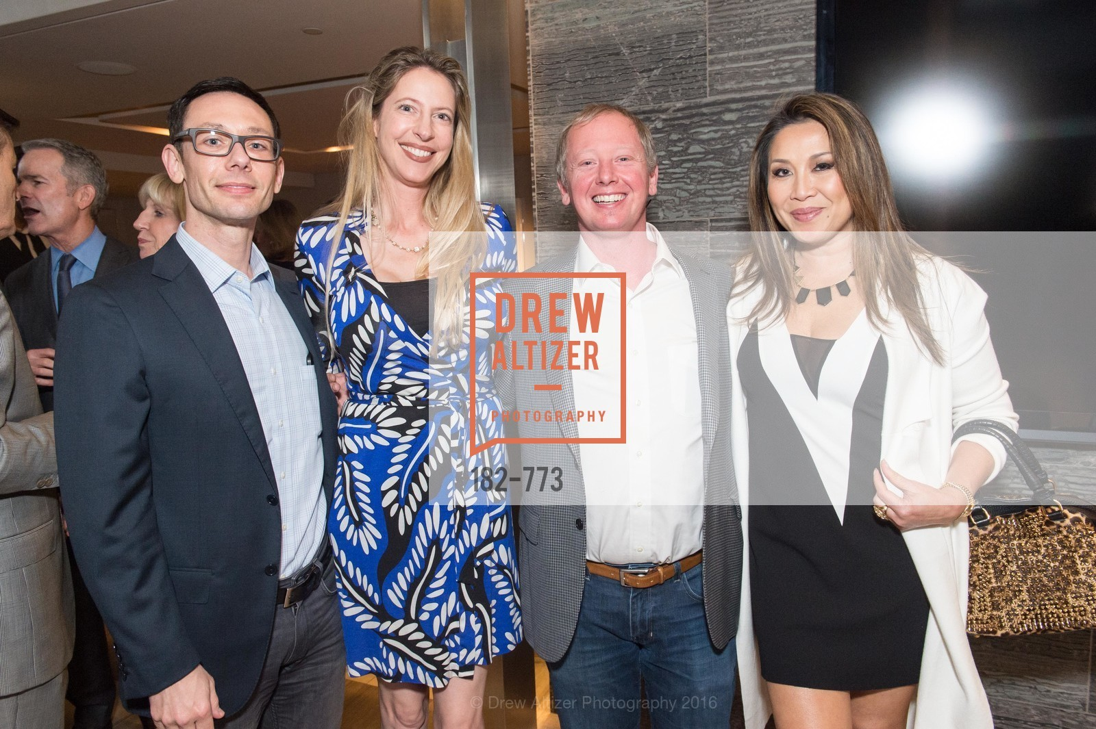 Ludovico Mazzola, Allison Fortini Crawford, Michelangelo Mazzola, Susie Kurtz, Sotheby's International Realty's Celebrates the New Year, The Battery, Penthouse. 717 Battery St, January 27th, 2016,Drew Altizer, Drew Altizer Photography, full-service agency, private events, San Francisco photographer, photographer california