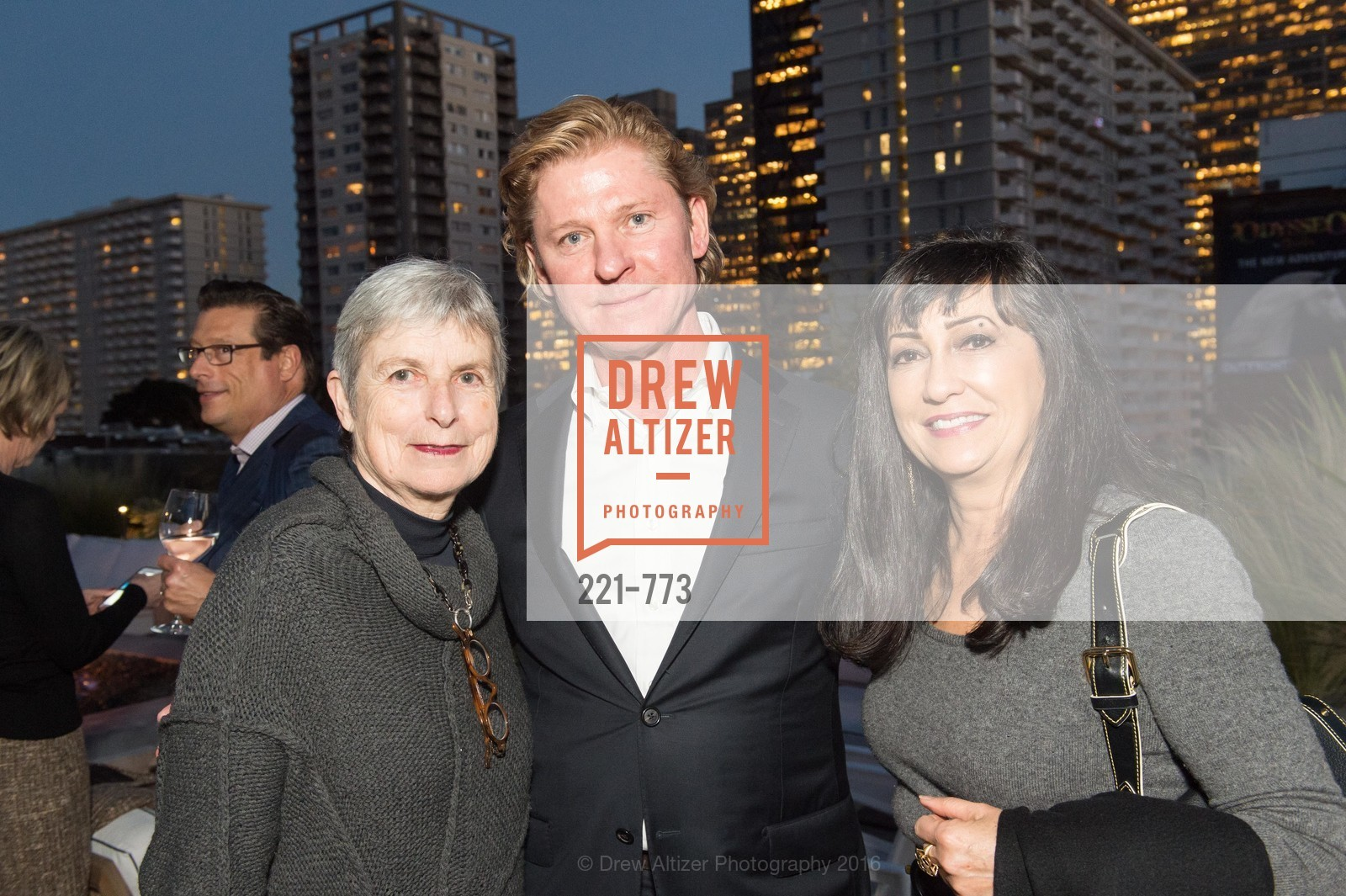 Linda Koehler, Jeffrey Wall, Danielle Chavanon, Sotheby's International Realty's Celebrates the New Year, The Battery, Penthouse. 717 Battery St, January 27th, 2016,Drew Altizer, Drew Altizer Photography, full-service agency, private events, San Francisco photographer, photographer california