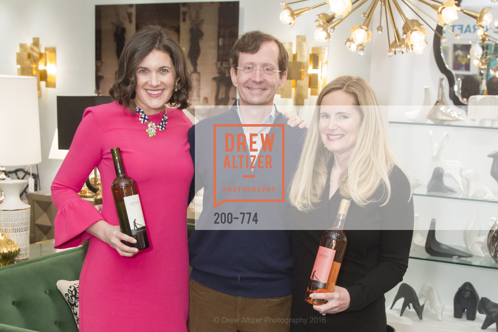 Emily Martin, John Gable, Gingy Harris Gable, Jonathan Adler Sip & Shop with Cultivar Wine & The JetSetting Fashionista, Jonathan Adler Store. 2133 Fillmore Street SF, CA, January 28th, 2016,Drew Altizer, Drew Altizer Photography, full-service agency, private events, San Francisco photographer, photographer california