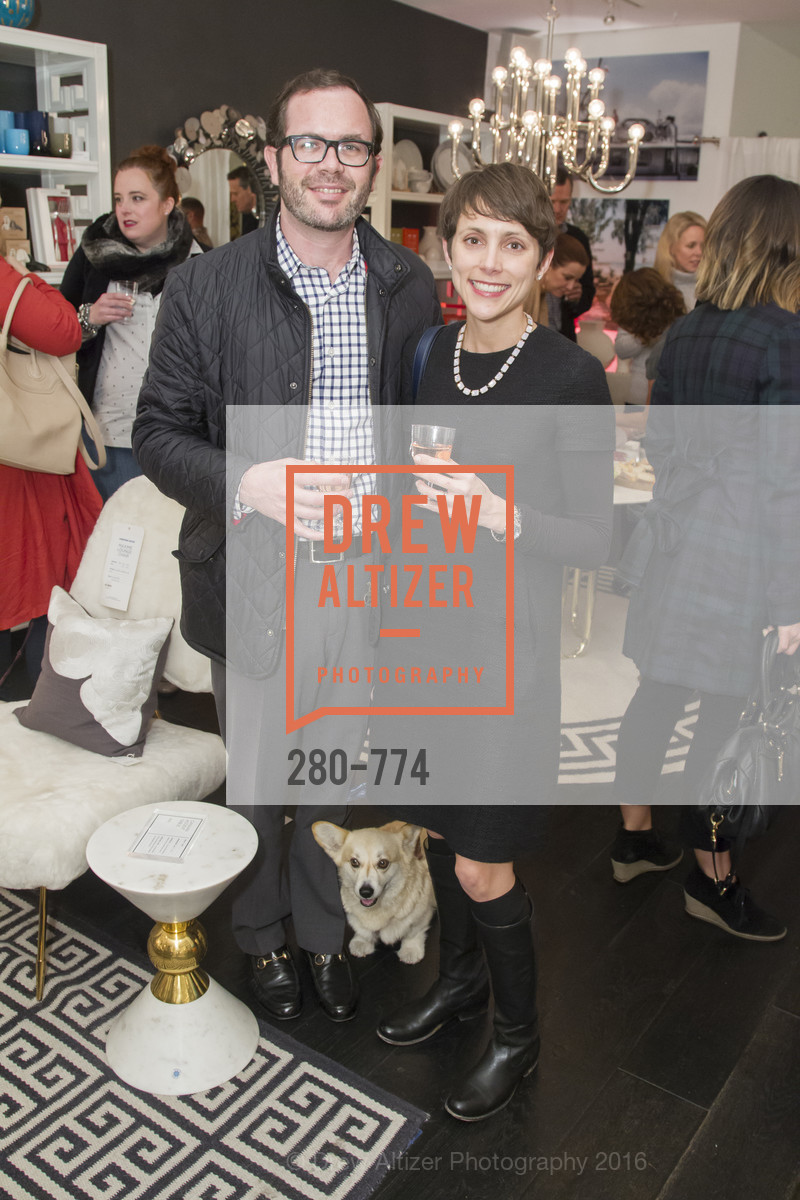Jesse Herzog, Kristin Herzog, Jonathan Adler Sip & Shop with Cultivar Wine & The JetSetting Fashionista, Jonathan Adler Store. 2133 Fillmore Street SF, CA, January 28th, 2016,Drew Altizer, Drew Altizer Photography, full-service agency, private events, San Francisco photographer, photographer california