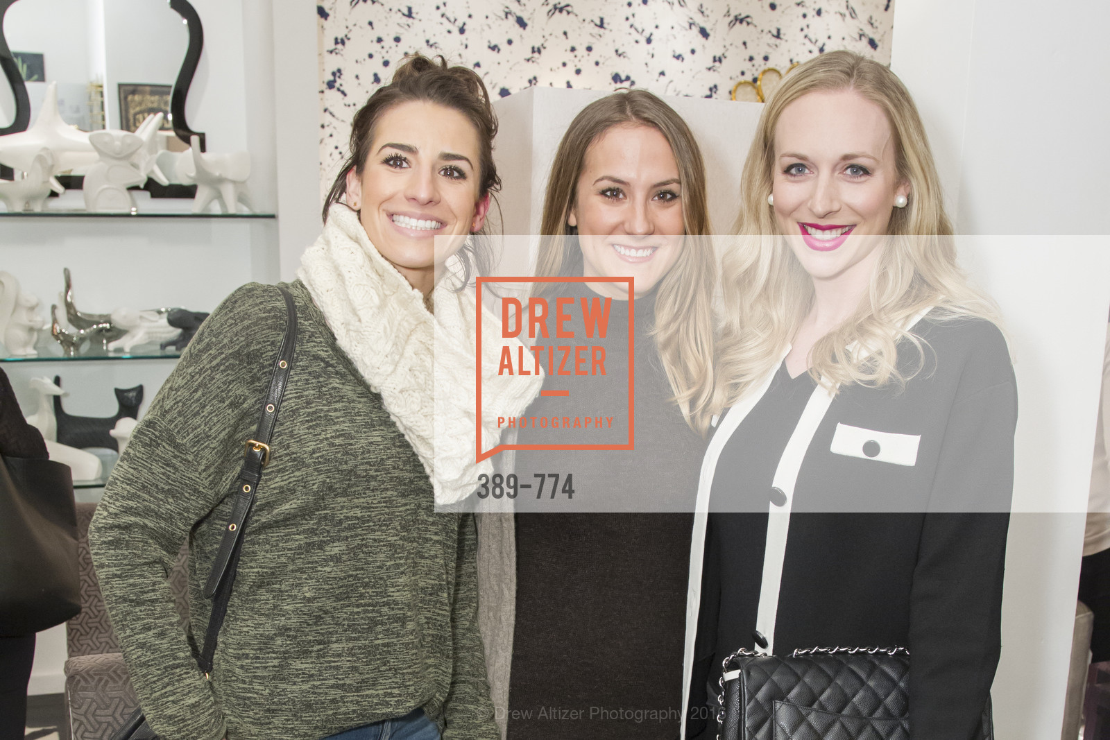 Marielle Witcker, Sophia Rizzo, Caroline Curran, Jonathan Adler Sip & Shop with Cultivar Wine & The JetSetting Fashionista, Jonathan Adler Store. 2133 Fillmore Street SF, CA, January 28th, 2016,Drew Altizer, Drew Altizer Photography, full-service agency, private events, San Francisco photographer, photographer california