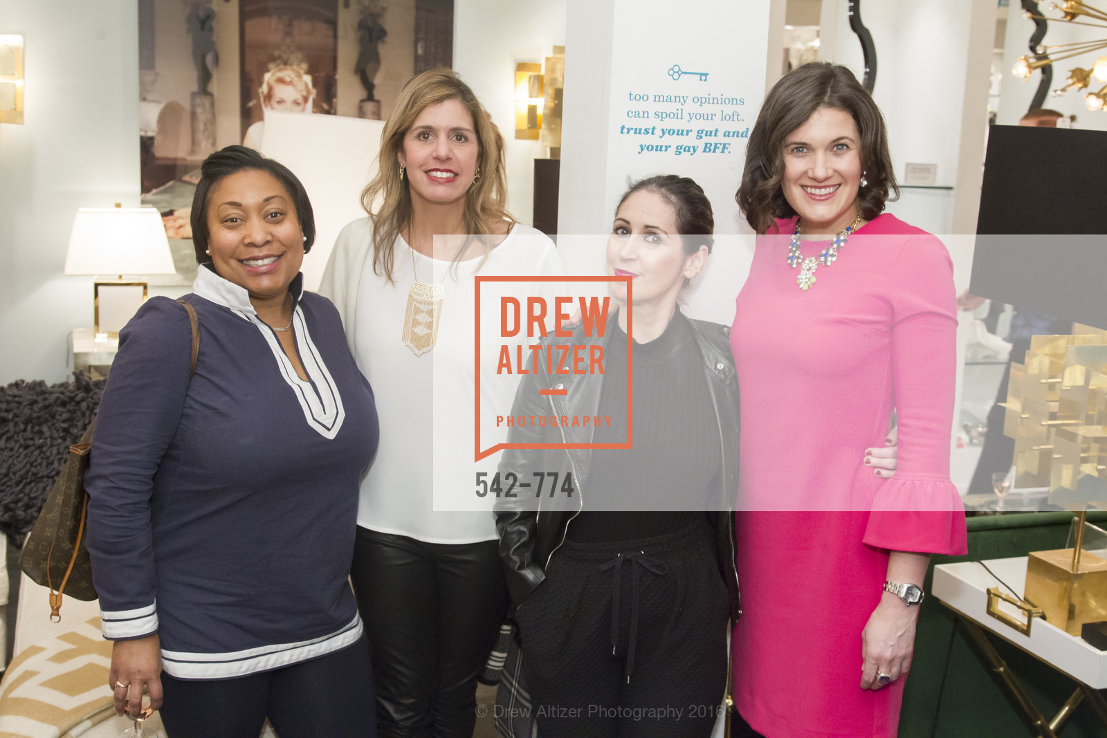 Gwyneth Borden, Julie Vance, Bebe Carmenito, Emily Martin, Jonathan Adler Sip & Shop with Cultivar Wine & The JetSetting Fashionista, Jonathan Adler Store. 2133 Fillmore Street SF, CA, January 28th, 2016,Drew Altizer, Drew Altizer Photography, full-service agency, private events, San Francisco photographer, photographer california