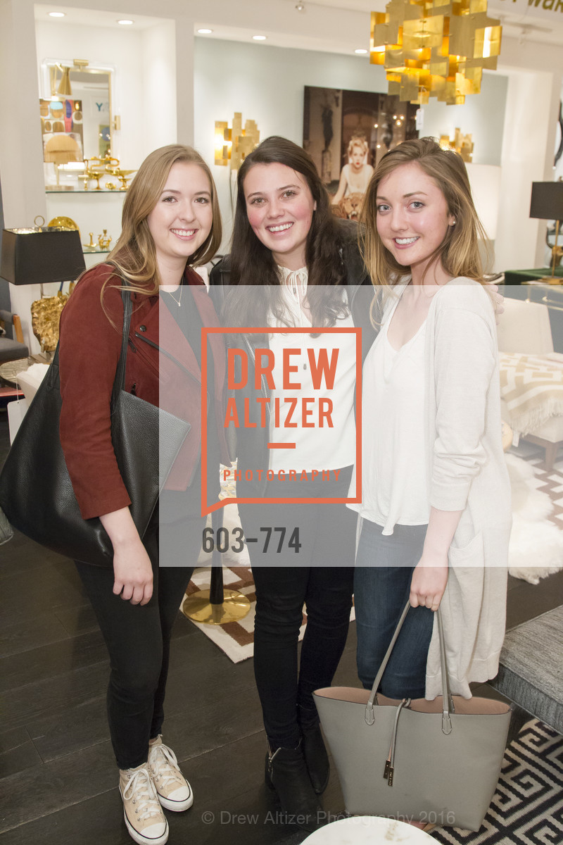 Virginia Lane, Francesca Ancerte, Lily Kaplan, Jonathan Adler Sip & Shop with Cultivar Wine & The JetSetting Fashionista, Jonathan Adler Store. 2133 Fillmore Street SF, CA, January 28th, 2016,Drew Altizer, Drew Altizer Photography, full-service agency, private events, San Francisco photographer, photographer california