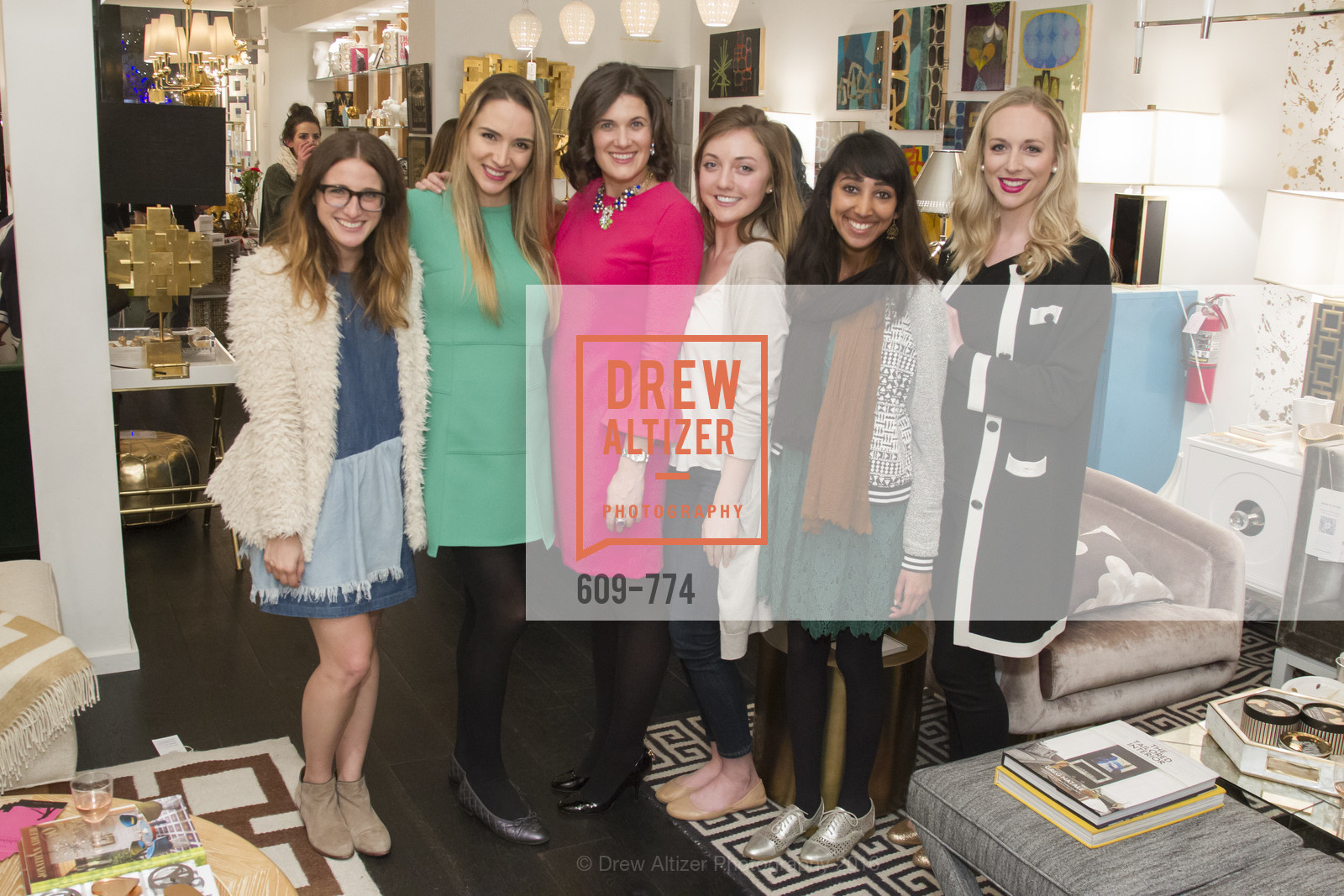 Amy Rancer, Jill Owen, Emily Martin, Lily Kaplan, Shikha Kaiwar, Caroline Curran, Jonathan Adler Sip & Shop with Cultivar Wine & The JetSetting Fashionista, Jonathan Adler Store. 2133 Fillmore Street SF, CA, January 28th, 2016,Drew Altizer, Drew Altizer Photography, full-service agency, private events, San Francisco photographer, photographer california