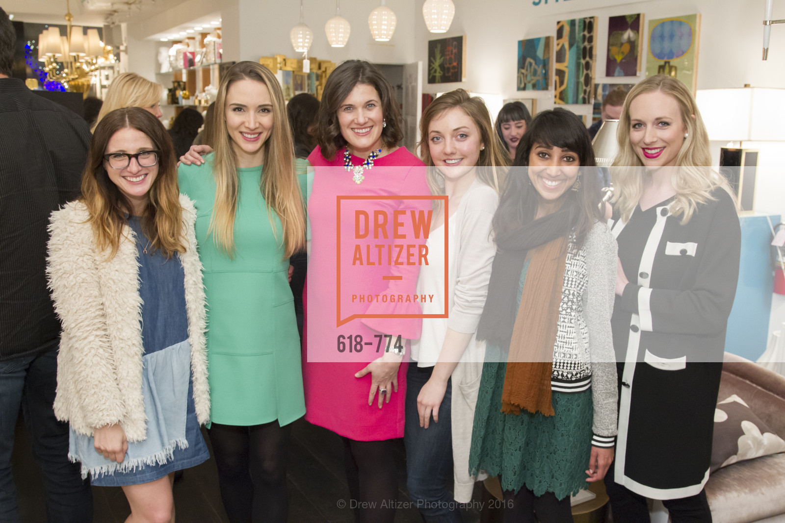Amy Rancer, Jill Owen, Emily Martin, Lily Kaplan, Shikha Kaiwar, Caroline Curran, Jonathan Adler Sip & Shop with Cultivar Wine & The JetSetting Fashionista, Jonathan Adler Store. 2133 Fillmore Street SF, CA, January 28th, 2016,Drew Altizer, Drew Altizer Photography, full-service event agency, private events, San Francisco photographer, photographer California