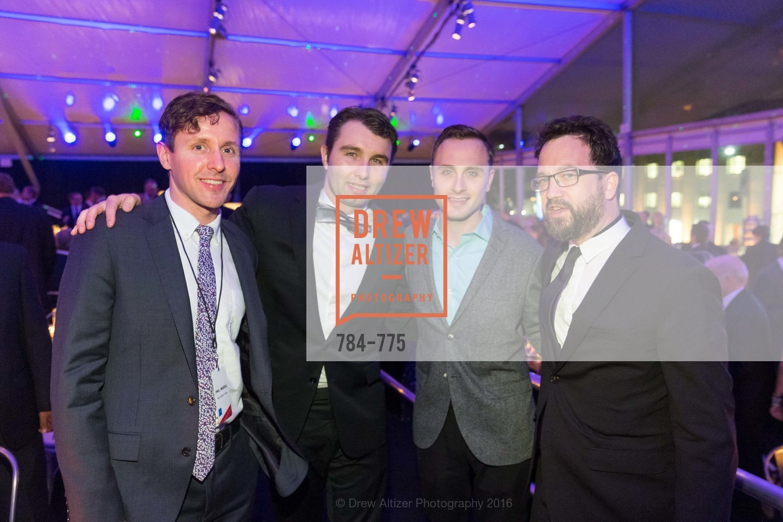 Bill Nuxoll, Charles Curran, Kevin Blusewicz, Ben Gilmartin, UC Berkeley Art Museum & Pacific Film Archive Gala, BAMPFA. 2120 Oxford Street, January 28th, 2016,Drew Altizer, Drew Altizer Photography, full-service agency, private events, San Francisco photographer, photographer california