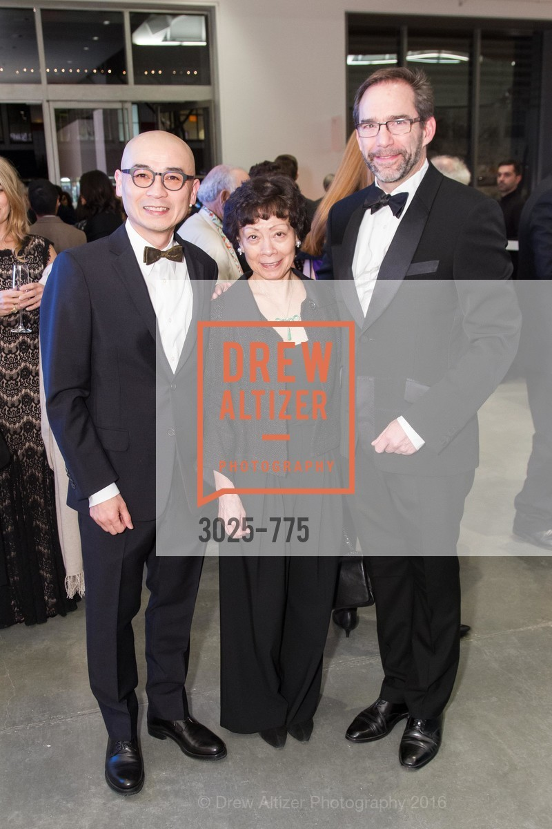 Coleman Fung, Wen-hsin Yeh, Larry Rinder, UC Berkeley Art Museum & Pacific Film Archive Gala, BAMPFA. 2120 Oxford Street, January 28th, 2016,Drew Altizer, Drew Altizer Photography, full-service agency, private events, San Francisco photographer, photographer california
