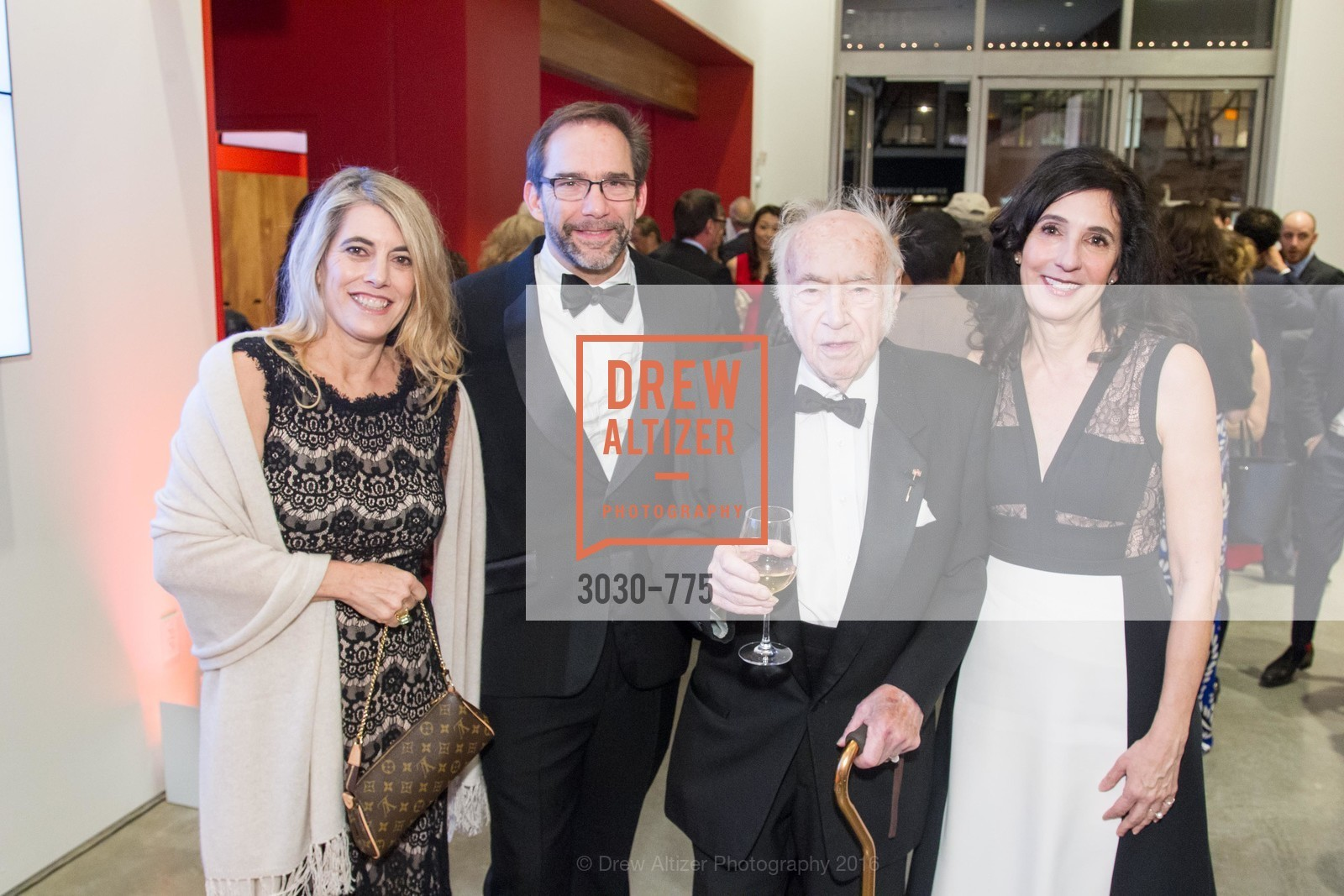Mia Baldwin, Larry Ringer, Gabrielle Selz, Peter Selz, UC Berkeley Art Museum & Pacific Film Archive Gala, BAMPFA. 2120 Oxford Street, January 28th, 2016,Drew Altizer, Drew Altizer Photography, full-service agency, private events, San Francisco photographer, photographer california