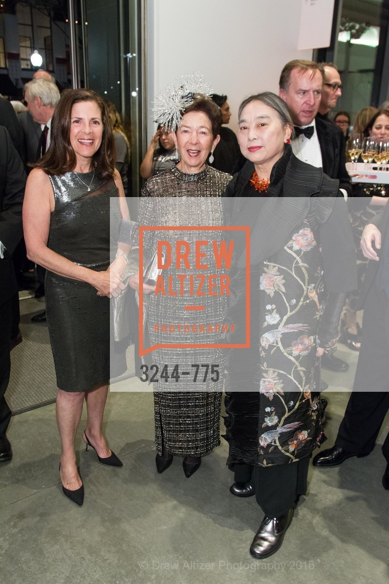 Marjorie Swig, Roselyne Swig, Hung Liu, UC Berkeley Art Museum & Pacific Film Archive Gala, BAMPFA. 2120 Oxford Street, January 28th, 2016,Drew Altizer, Drew Altizer Photography, full-service agency, private events, San Francisco photographer, photographer california
