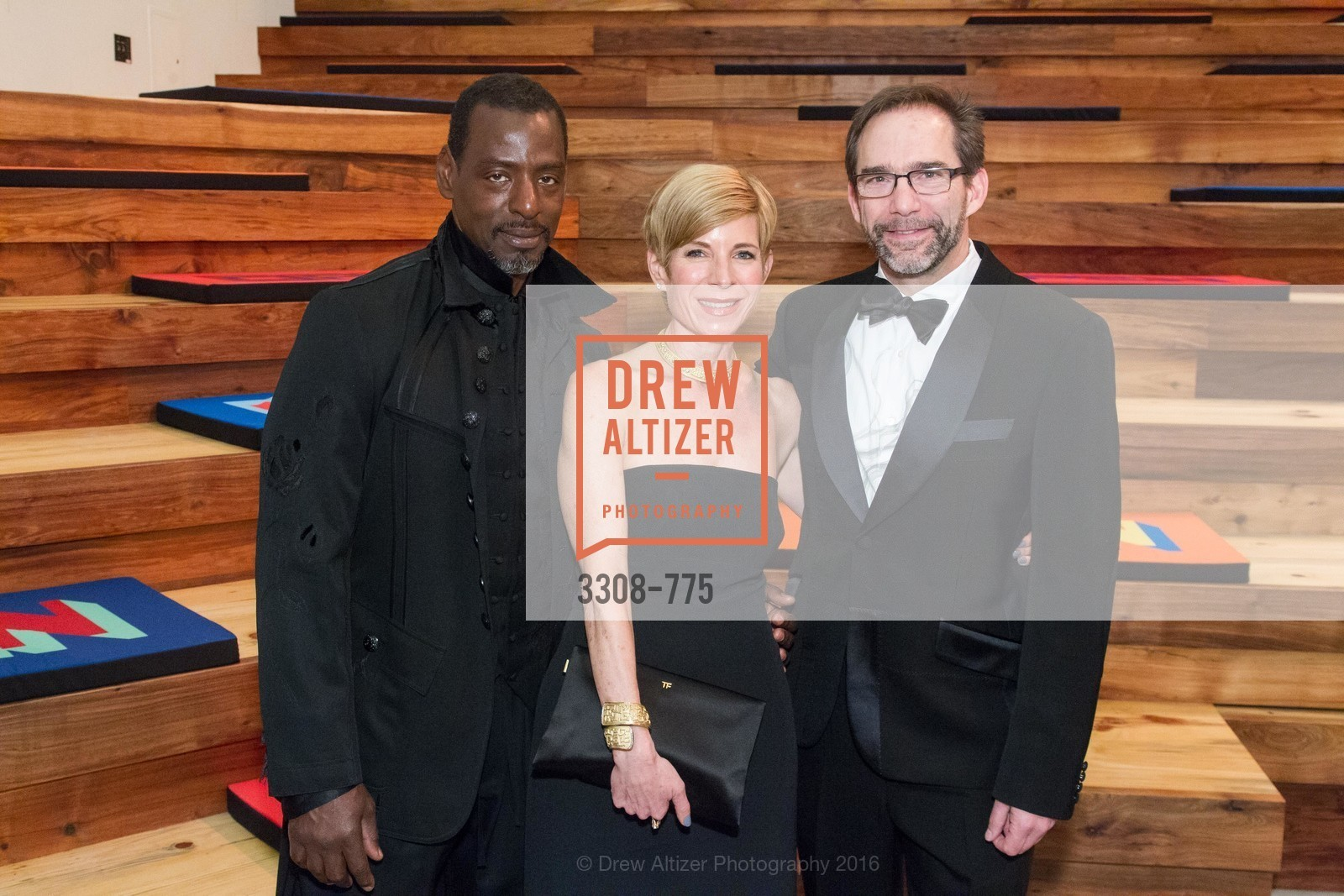 Ron Finley, Julie Simpson, Larry Rinder, UC Berkeley Art Museum & Pacific Film Archive Gala, BAMPFA. 2120 Oxford Street, January 28th, 2016,Drew Altizer, Drew Altizer Photography, full-service agency, private events, San Francisco photographer, photographer california