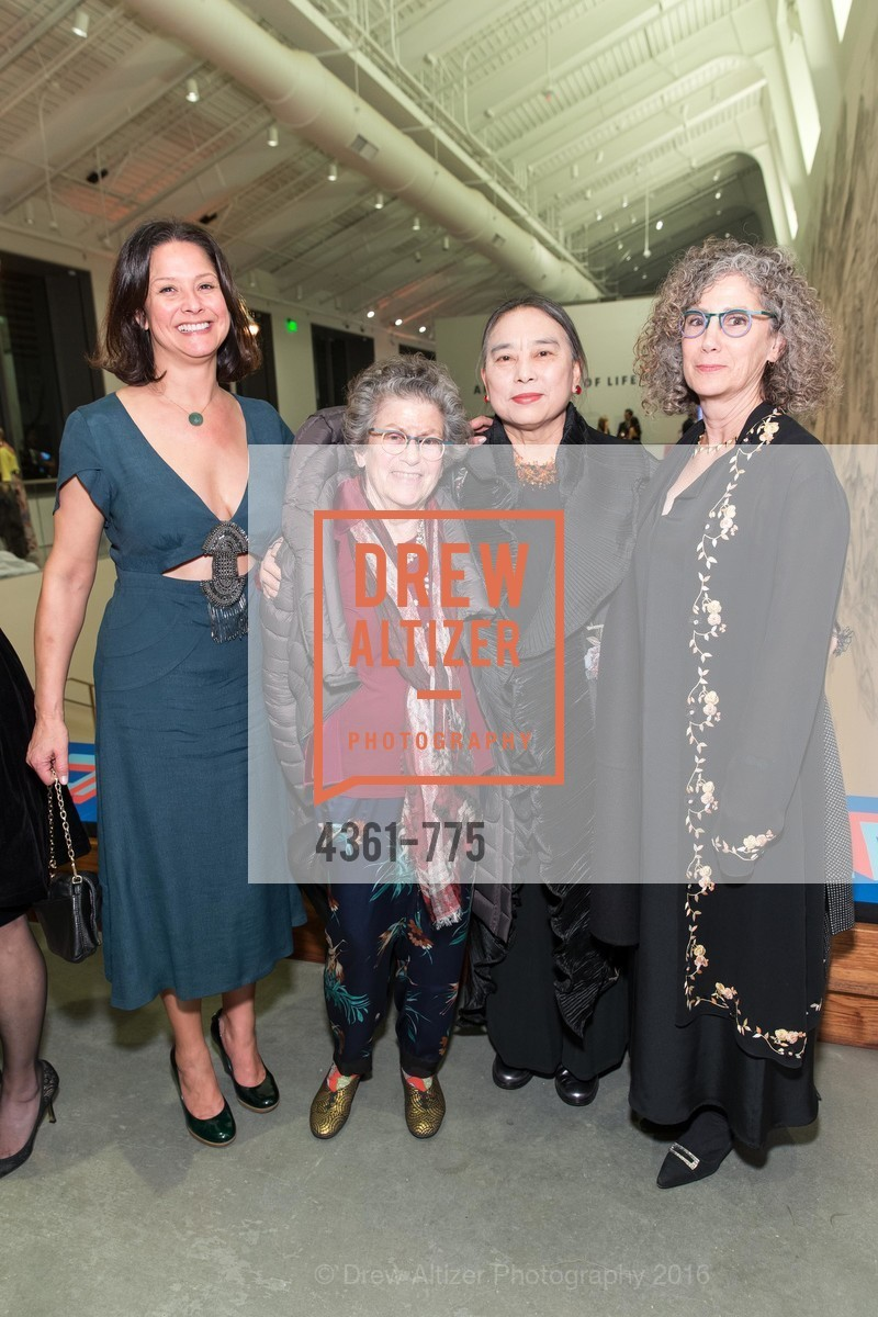 Jenny Baie, Rena Bransten, Hung Liu, Trish Bransten, UC Berkeley Art Museum & Pacific Film Archive Gala, BAMPFA. 2120 Oxford Street, January 28th, 2016,Drew Altizer, Drew Altizer Photography, full-service agency, private events, San Francisco photographer, photographer california