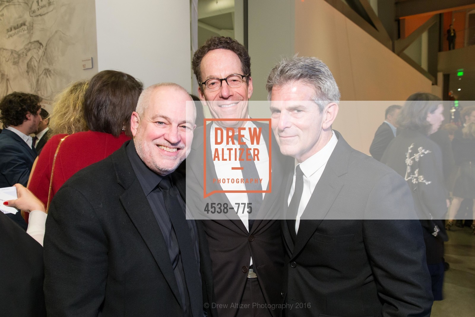 Gary Garrel, Alan Mark, Jeffrey Fraenkel, UC Berkeley Art Museum & Pacific Film Archive Gala, BAMPFA. 2120 Oxford Street, January 28th, 2016,Drew Altizer, Drew Altizer Photography, full-service agency, private events, San Francisco photographer, photographer california