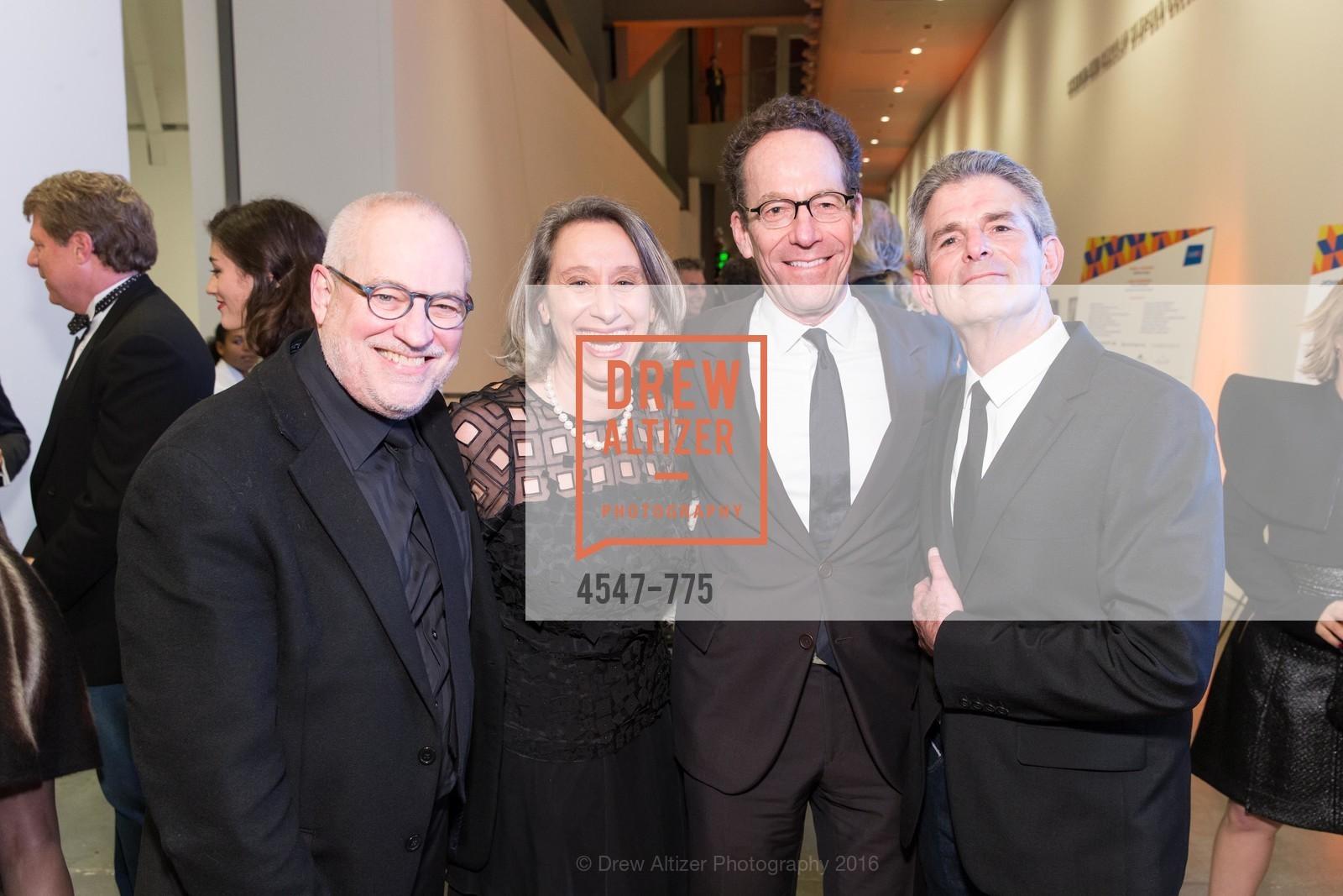 Gary Garrel, Connie Wolf, Alan Mark, Jeffrey Fraenkel, UC Berkeley Art Museum & Pacific Film Archive Gala, BAMPFA. 2120 Oxford Street, January 28th, 2016