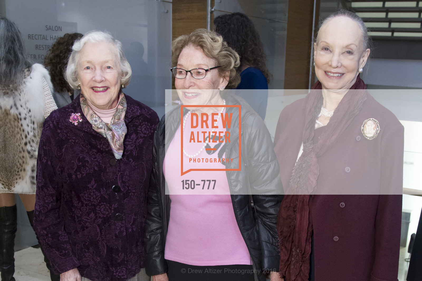 Marianne Peterson, Jane Fiore, Emily Marcus, The San Francisco Conservatory of Music Fanfare Luncheon, San Francisco Conservatory of Music. 50 Oak Street, January 29th, 2016,Drew Altizer, Drew Altizer Photography, full-service agency, private events, San Francisco photographer, photographer california