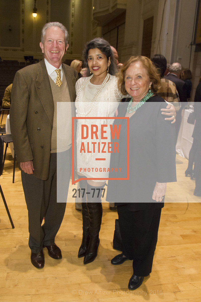 Michael Whitman, Deepa Pakianathan, Laura Morey, The San Francisco Conservatory of Music Fanfare Luncheon, San Francisco Conservatory of Music. 50 Oak Street, January 29th, 2016