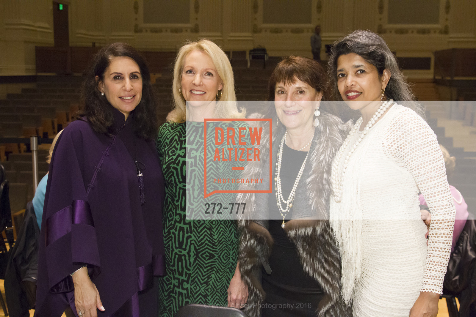 Lisa Grotts, Ann Girard, Debby Sagues, Deepa Pakianathan, The San Francisco Conservatory of Music Fanfare Luncheon, San Francisco Conservatory of Music. 50 Oak Street, January 29th, 2016,Drew Altizer, Drew Altizer Photography, full-service agency, private events, San Francisco photographer, photographer california