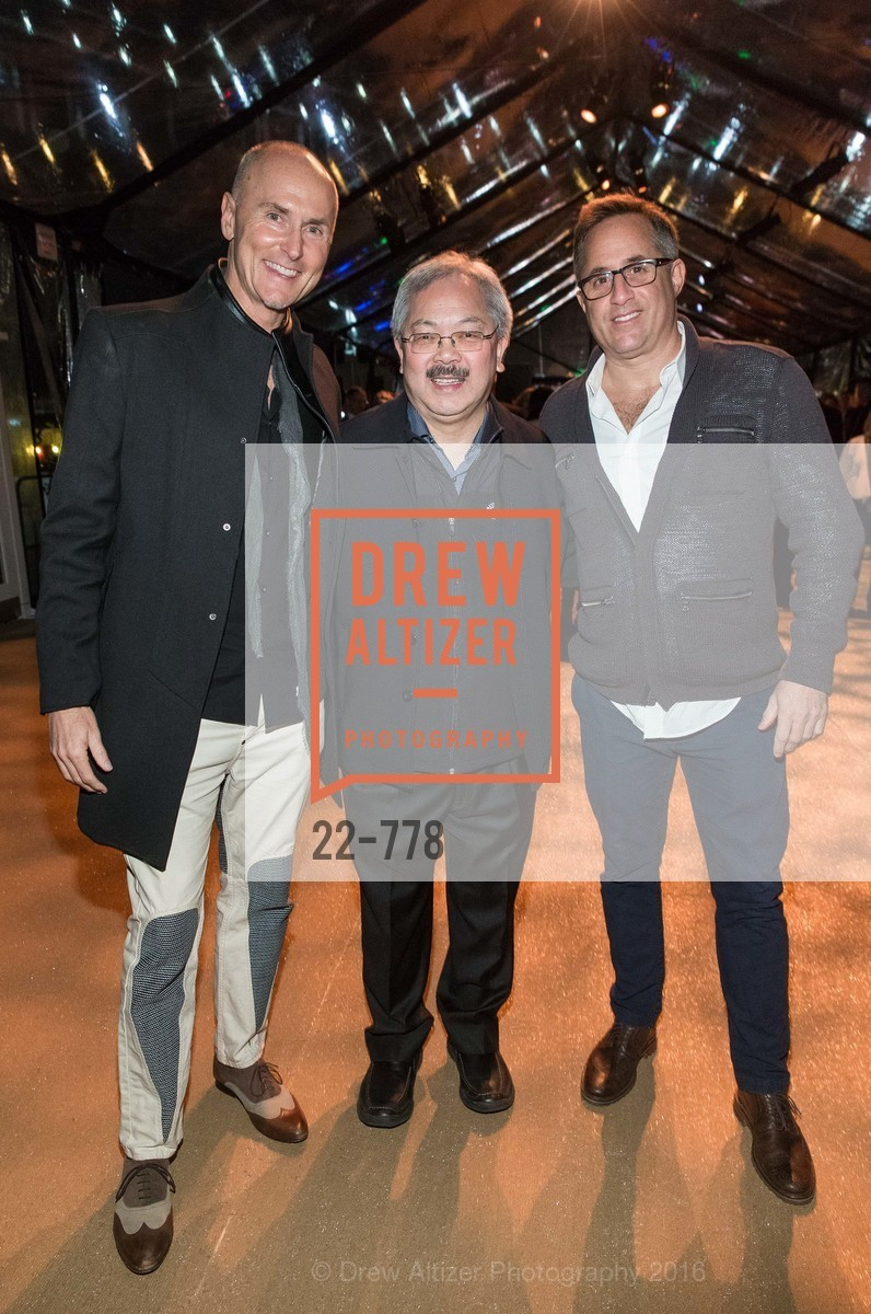 Chip Conley, Ed Lee, Oren Bronstein, The Bay Lights Grand Relighting Celebration, Epic Steakhouse. 369 The Embarcadero, January 29th, 2016,Drew Altizer, Drew Altizer Photography, full-service agency, private events, San Francisco photographer, photographer california