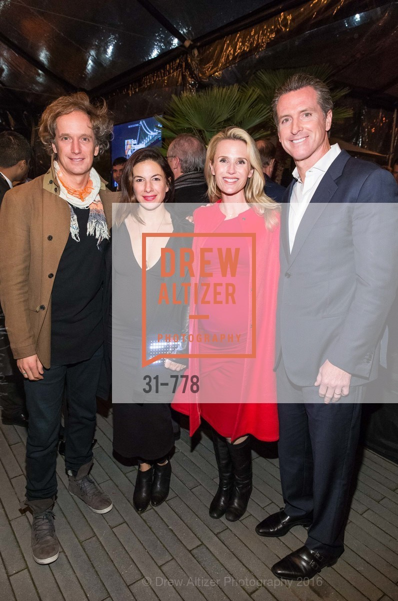 Yves Behar, Sabrina Buell, Jennifer Siebel Newsom, Gavin Newsom, The Bay Lights Grand Relighting Celebration, Epic Steakhouse. 369 The Embarcadero, January 29th, 2016,Drew Altizer, Drew Altizer Photography, full-service agency, private events, San Francisco photographer, photographer california