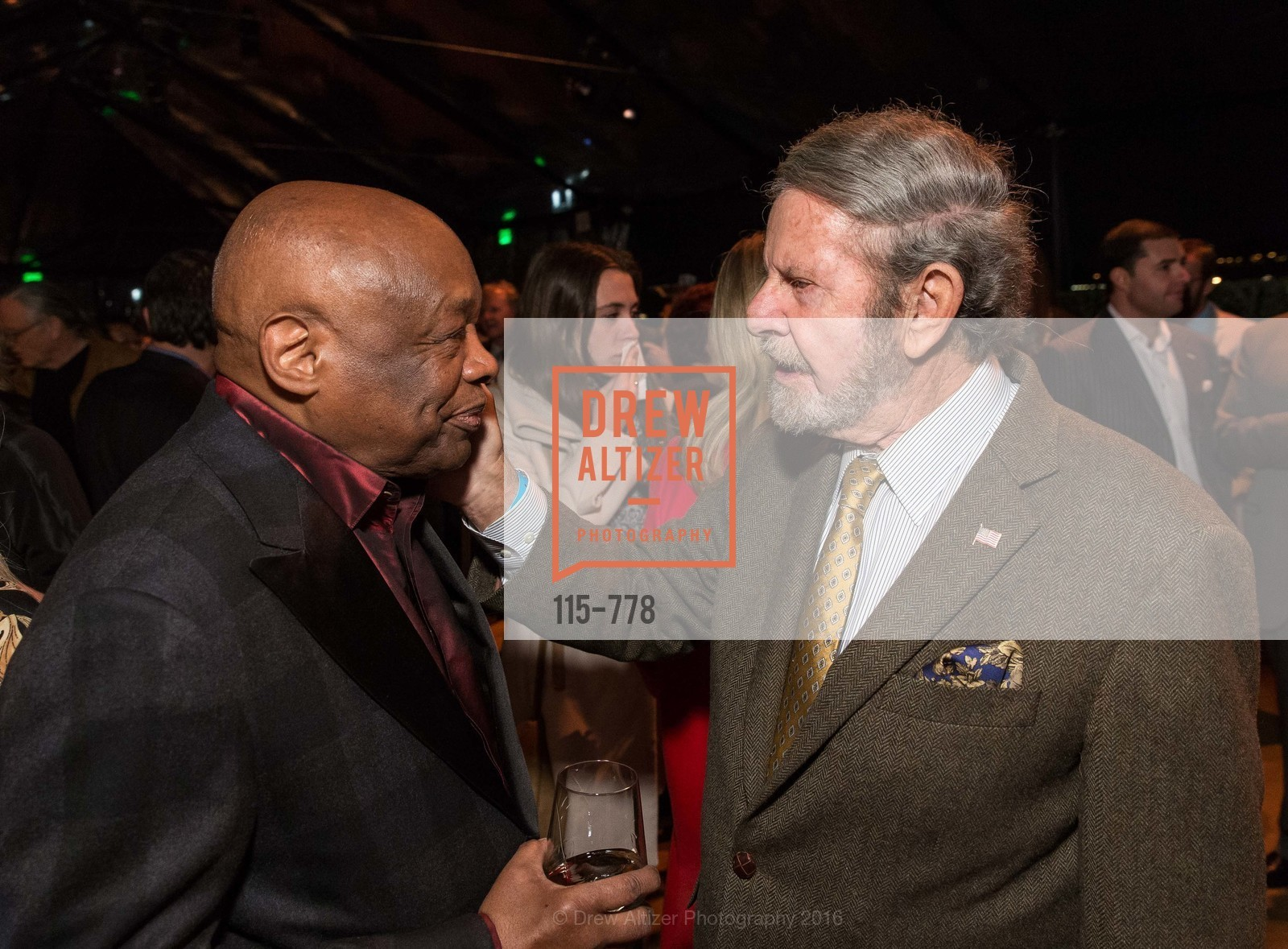 Willie Brown, Tad Taube, The Bay Lights Grand Relighting Celebration, Epic Steakhouse. 369 The Embarcadero, January 29th, 2016,Drew Altizer, Drew Altizer Photography, full-service agency, private events, San Francisco photographer, photographer california