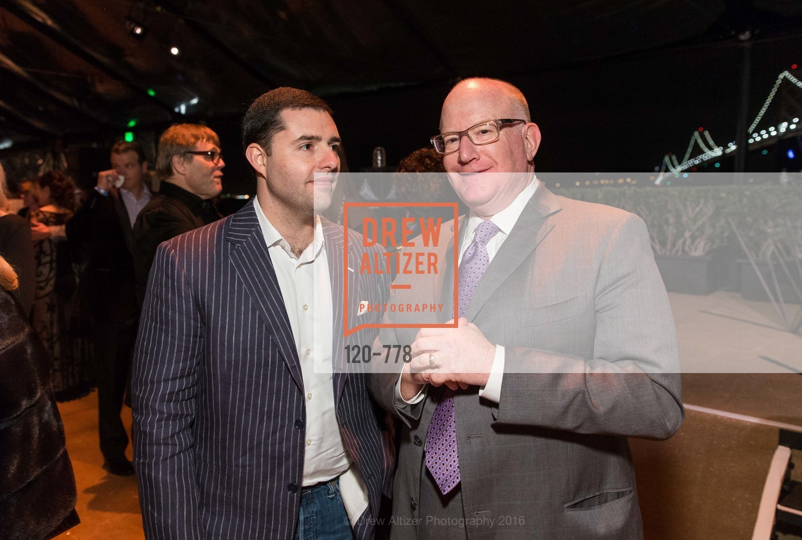 Jed York, Larry Kamer, The Bay Lights Grand Relighting Celebration, Epic Steakhouse. 369 The Embarcadero, January 29th, 2016,Drew Altizer, Drew Altizer Photography, full-service event agency, private events, San Francisco photographer, photographer California