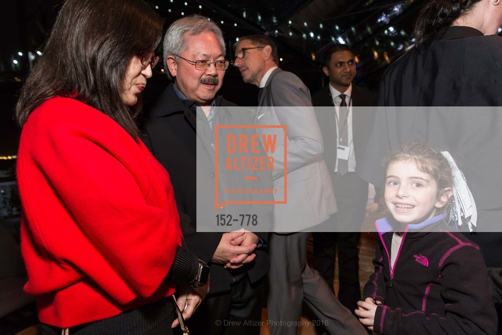 Anita Lee, Ed Lee, Bella Kaufman, The Bay Lights Grand Relighting Celebration, Epic Steakhouse. 369 The Embarcadero, January 29th, 2016,Drew Altizer, Drew Altizer Photography, full-service event agency, private events, San Francisco photographer, photographer California
