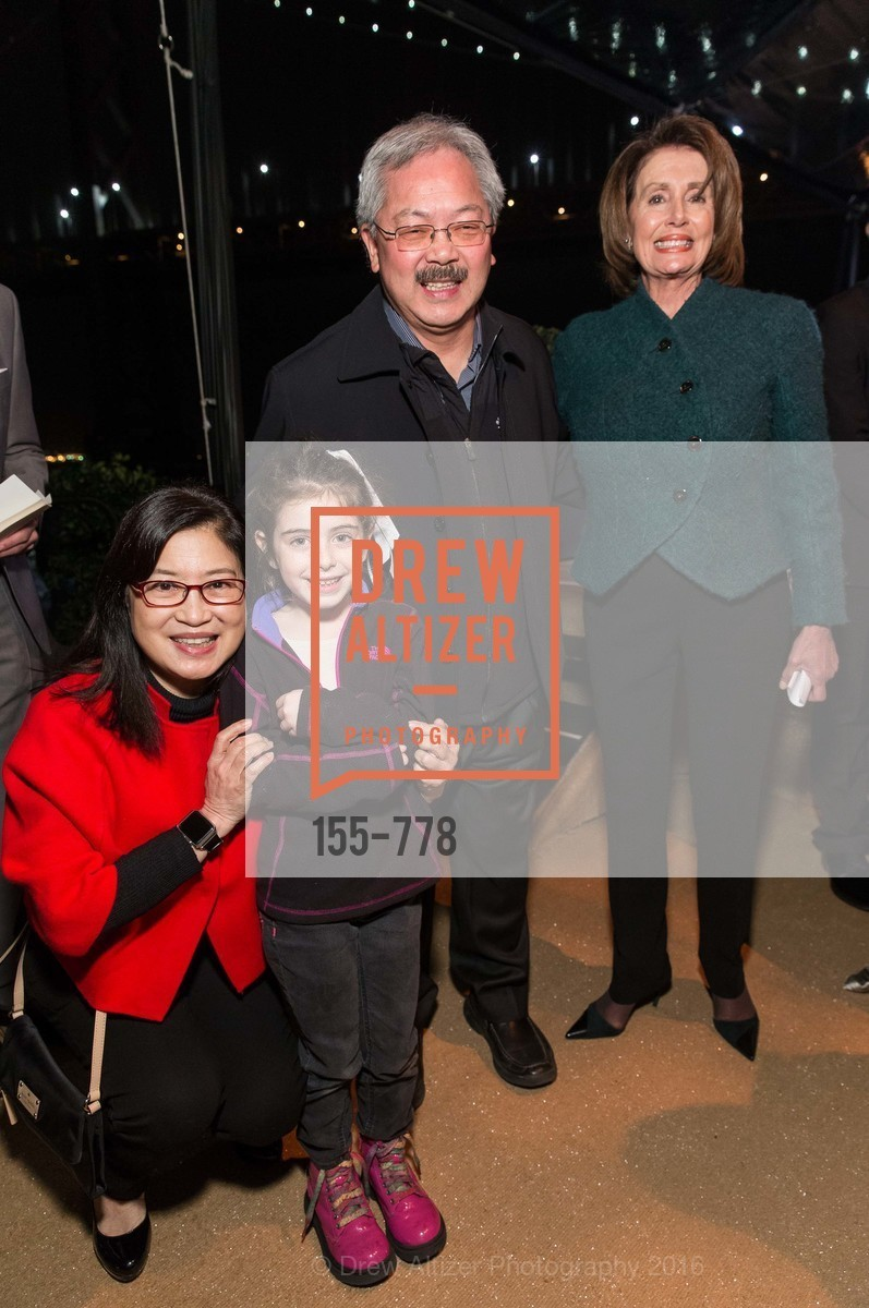 Anita Lee, Bella Kaufman, Ed Lee, Nancy Pelosi, The Bay Lights Grand Relighting Celebration, Epic Steakhouse. 369 The Embarcadero, January 29th, 2016,Drew Altizer, Drew Altizer Photography, full-service agency, private events, San Francisco photographer, photographer california
