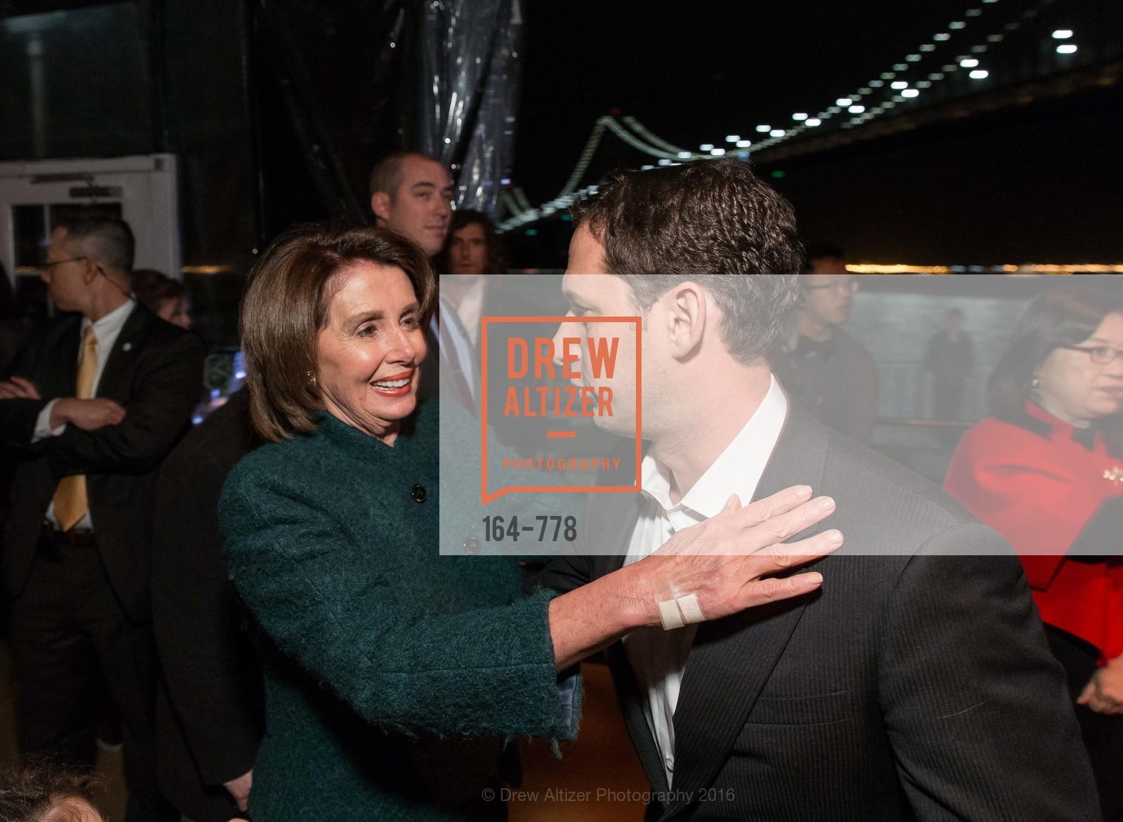 Nancy Pelosi, Daniel Lurie, The Bay Lights Grand Relighting Celebration, Epic Steakhouse. 369 The Embarcadero, January 29th, 2016,Drew Altizer, Drew Altizer Photography, full-service event agency, private events, San Francisco photographer, photographer California