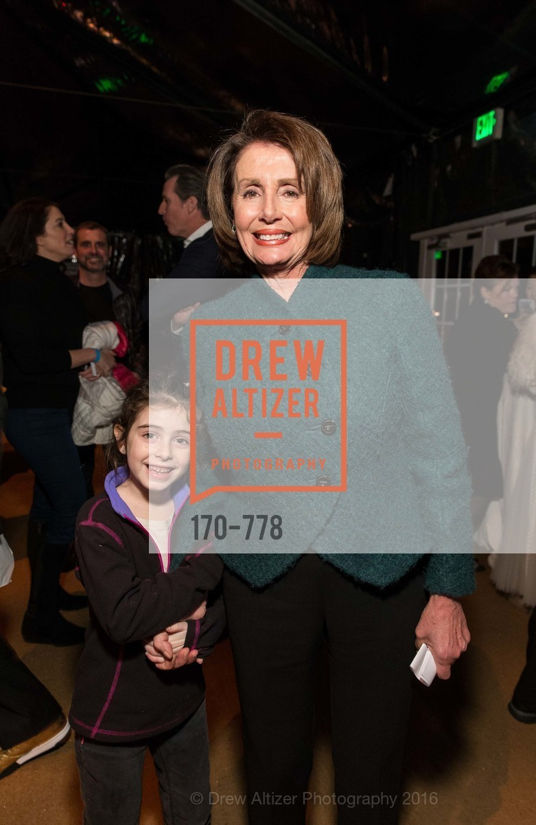 Bella Kaufman, Nancy Pelosi, The Bay Lights Grand Relighting Celebration, Epic Steakhouse. 369 The Embarcadero, January 29th, 2016,Drew Altizer, Drew Altizer Photography, full-service agency, private events, San Francisco photographer, photographer california