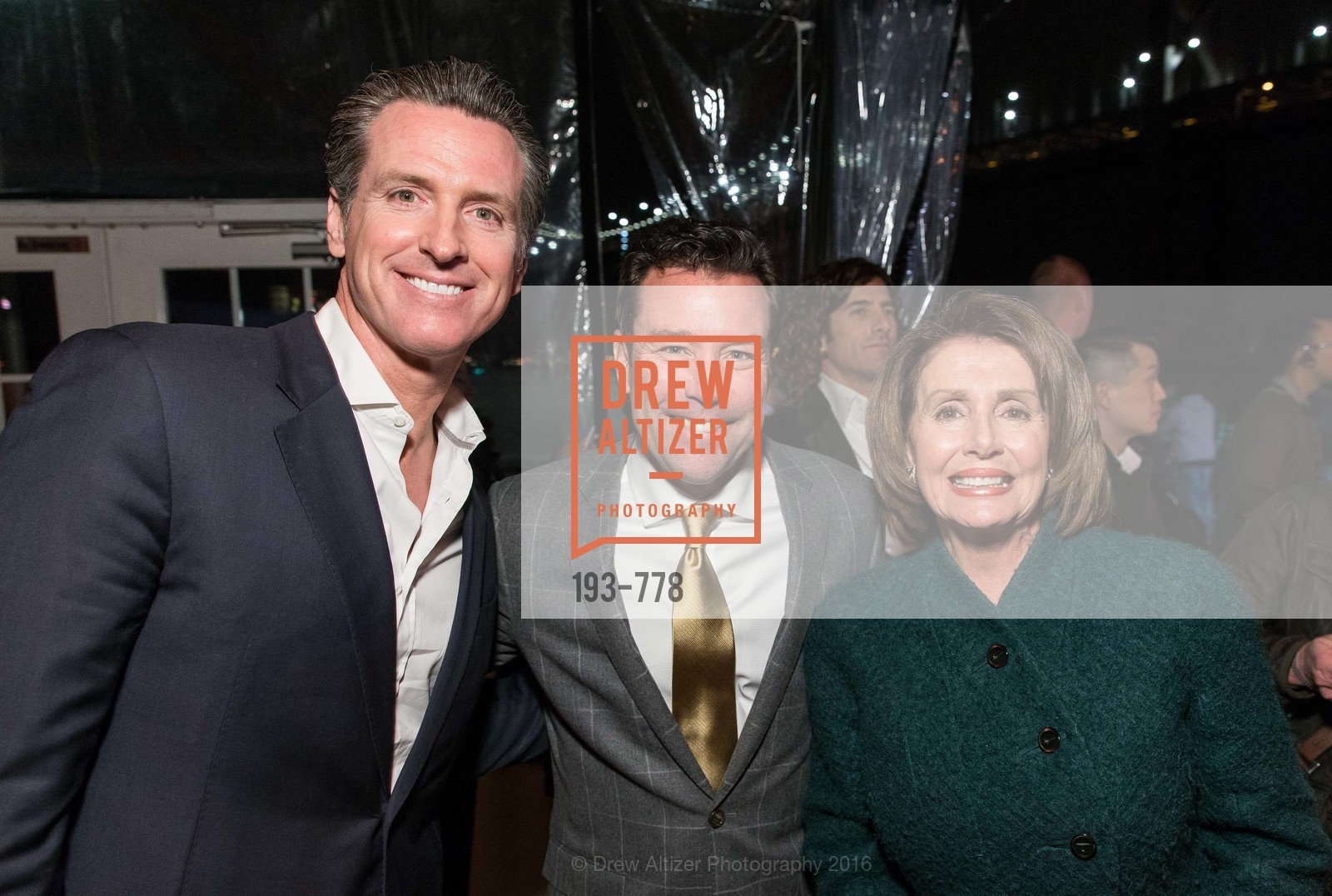 Gavin Newsom, Keith Bruce, Nancy Pelosi, The Bay Lights Grand Relighting Celebration, Epic Steakhouse. 369 The Embarcadero, January 29th, 2016,Drew Altizer, Drew Altizer Photography, full-service agency, private events, San Francisco photographer, photographer california