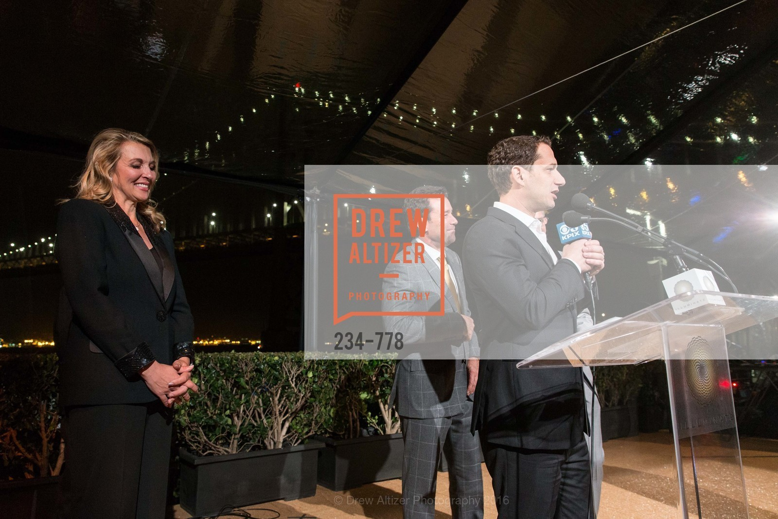 Juliette Goodrich, Keith Bruce, Daniel Lurie, The Bay Lights Grand Relighting Celebration, Epic Steakhouse. 369 The Embarcadero, January 29th, 2016,Drew Altizer, Drew Altizer Photography, full-service agency, private events, San Francisco photographer, photographer california