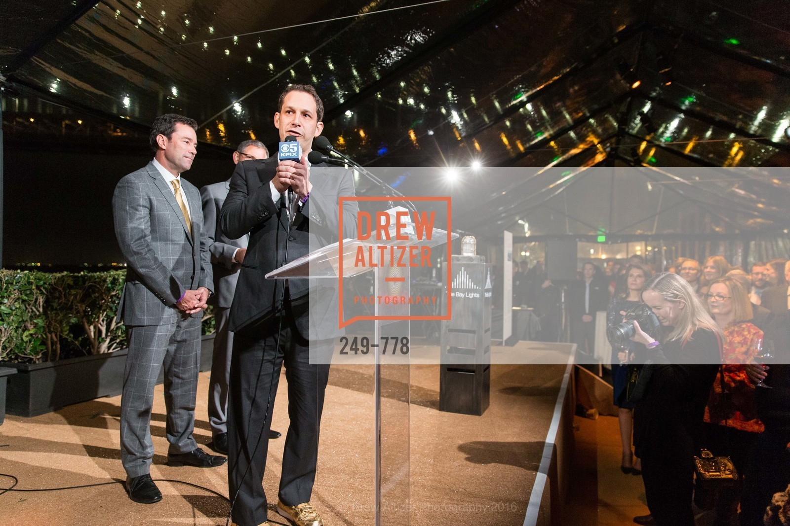 Keith Bruce, Daniel Lurie, The Bay Lights Grand Relighting Celebration, Epic Steakhouse. 369 The Embarcadero, January 29th, 2016,Drew Altizer, Drew Altizer Photography, full-service event agency, private events, San Francisco photographer, photographer California