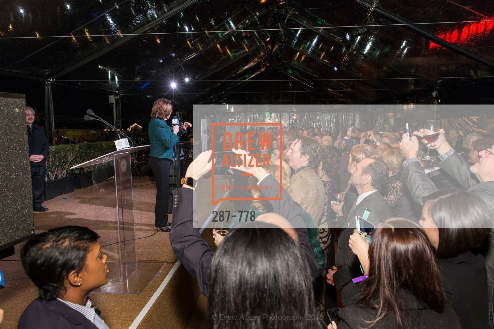 Nancy Pelosi, The Bay Lights Grand Relighting Celebration, Epic Steakhouse. 369 The Embarcadero, January 29th, 2016,Drew Altizer, Drew Altizer Photography, full-service event agency, private events, San Francisco photographer, photographer California
