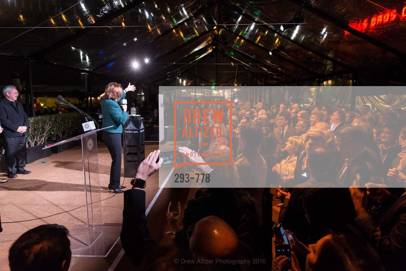 Nancy Pelosi, The Bay Lights Grand Relighting Celebration, Epic Steakhouse. 369 The Embarcadero, January 29th, 2016,Drew Altizer, Drew Altizer Photography, full-service agency, private events, San Francisco photographer, photographer california