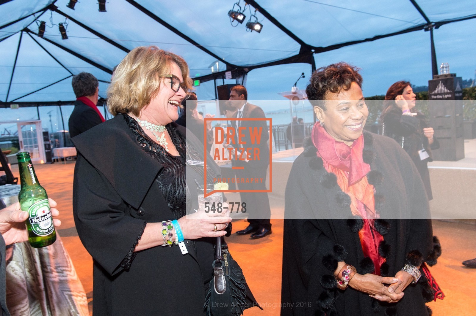 Harley K. Dubois, Barbara Lee, The Bay Lights Grand Relighting Celebration, Epic Steakhouse. 369 The Embarcadero, January 29th, 2016,Drew Altizer, Drew Altizer Photography, full-service agency, private events, San Francisco photographer, photographer california