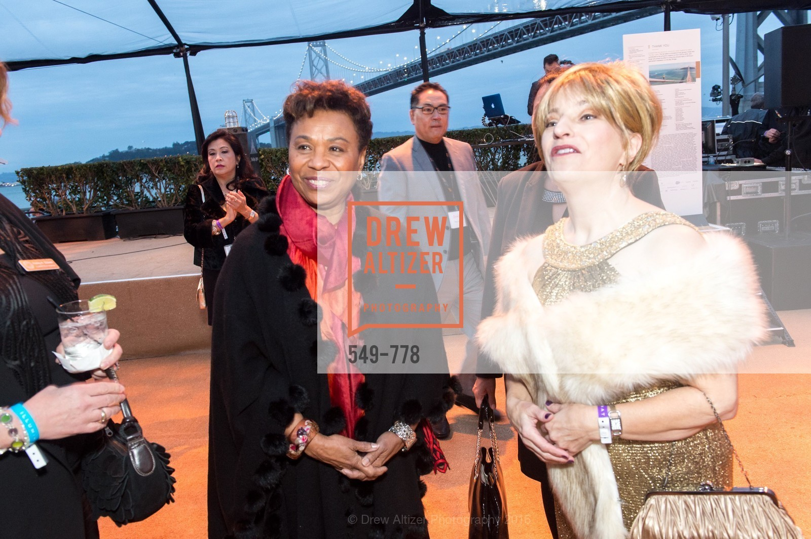 Barbara Lee, Jillian Elliott, The Bay Lights Grand Relighting Celebration, Epic Steakhouse. 369 The Embarcadero, January 29th, 2016,Drew Altizer, Drew Altizer Photography, full-service agency, private events, San Francisco photographer, photographer california