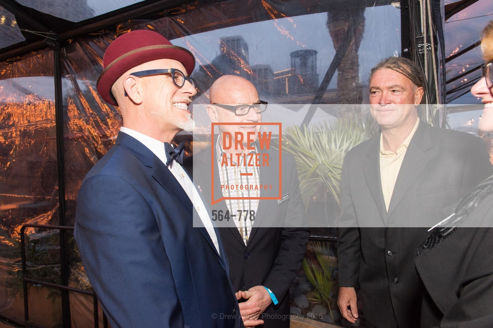 Matthew Tudor-Jackson, Douglas Atkin, Paul Dubois, The Bay Lights Grand Relighting Celebration, Epic Steakhouse. 369 The Embarcadero, January 29th, 2016,Drew Altizer, Drew Altizer Photography, full-service agency, private events, San Francisco photographer, photographer california