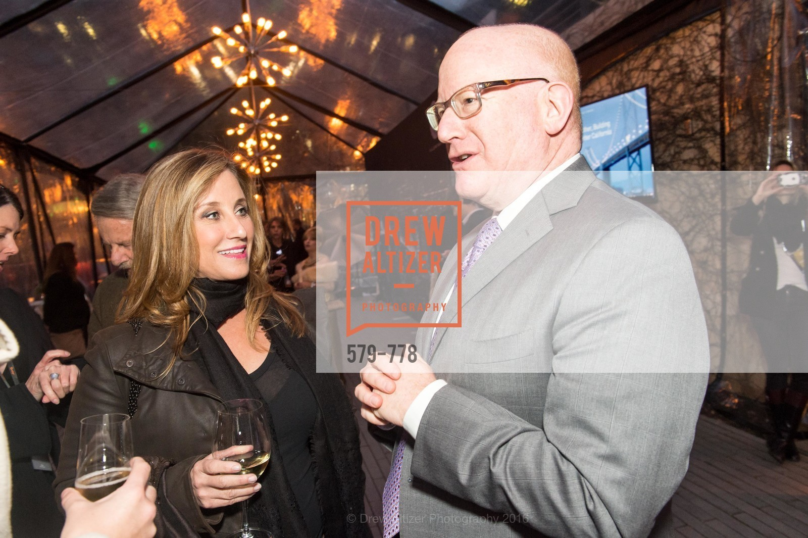 Dianne Taube, Larry Kamer, The Bay Lights Grand Relighting Celebration, Epic Steakhouse. 369 The Embarcadero, January 29th, 2016,Drew Altizer, Drew Altizer Photography, full-service agency, private events, San Francisco photographer, photographer california