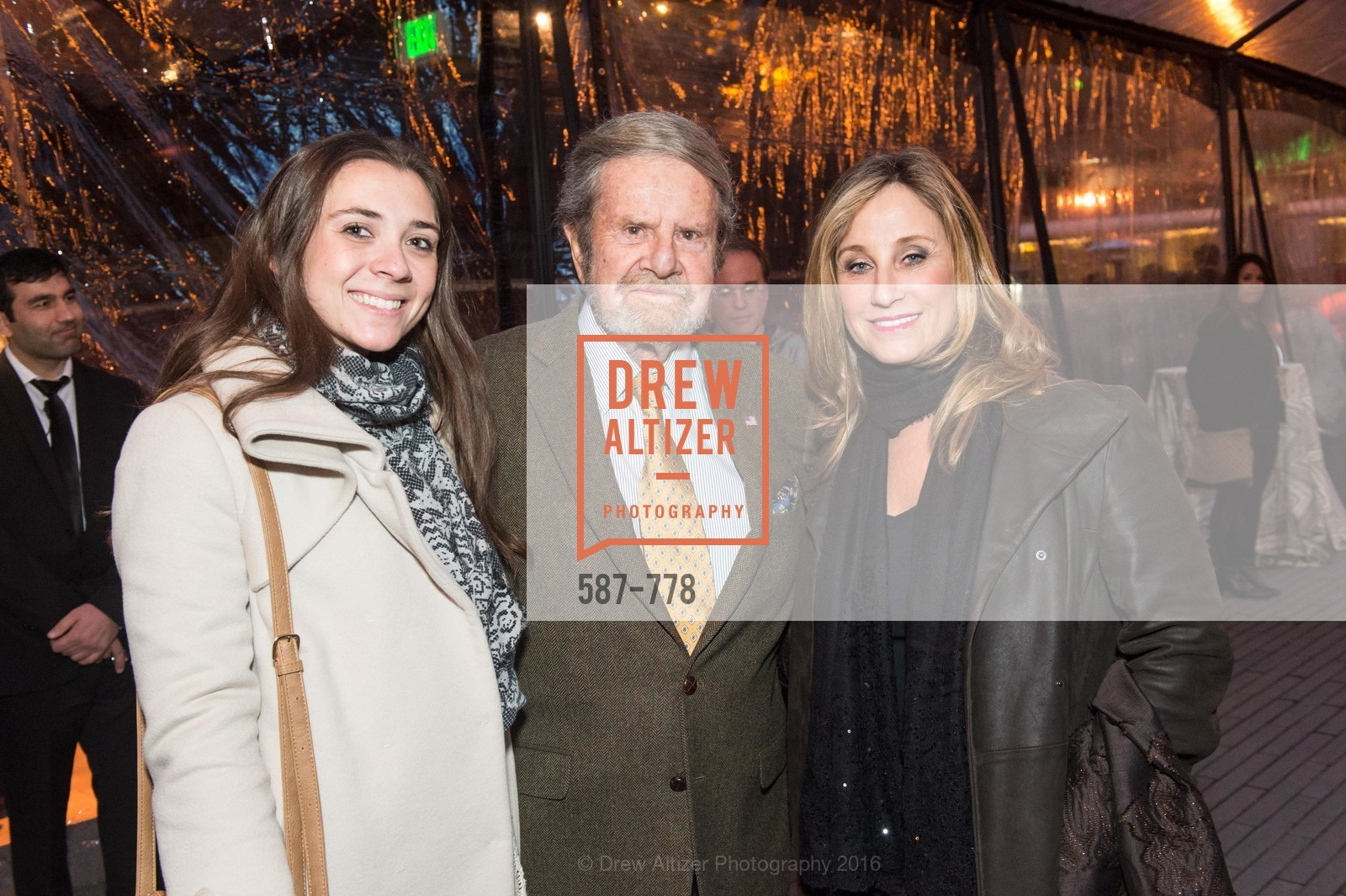 Haley Akchurin, Tad Taube, Dianne Taube, The Bay Lights Grand Relighting Celebration, Epic Steakhouse. 369 The Embarcadero, January 29th, 2016,Drew Altizer, Drew Altizer Photography, full-service agency, private events, San Francisco photographer, photographer california