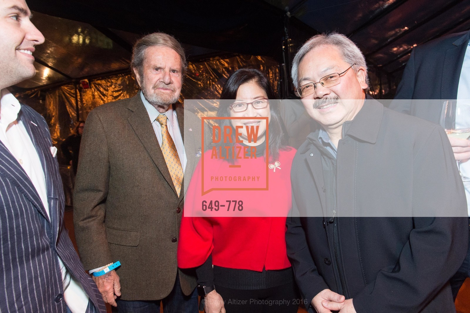 Tad Taube, Anita Lee, Ed Lee, The Bay Lights Grand Relighting Celebration, Epic Steakhouse. 369 The Embarcadero, January 29th, 2016,Drew Altizer, Drew Altizer Photography, full-service agency, private events, San Francisco photographer, photographer california