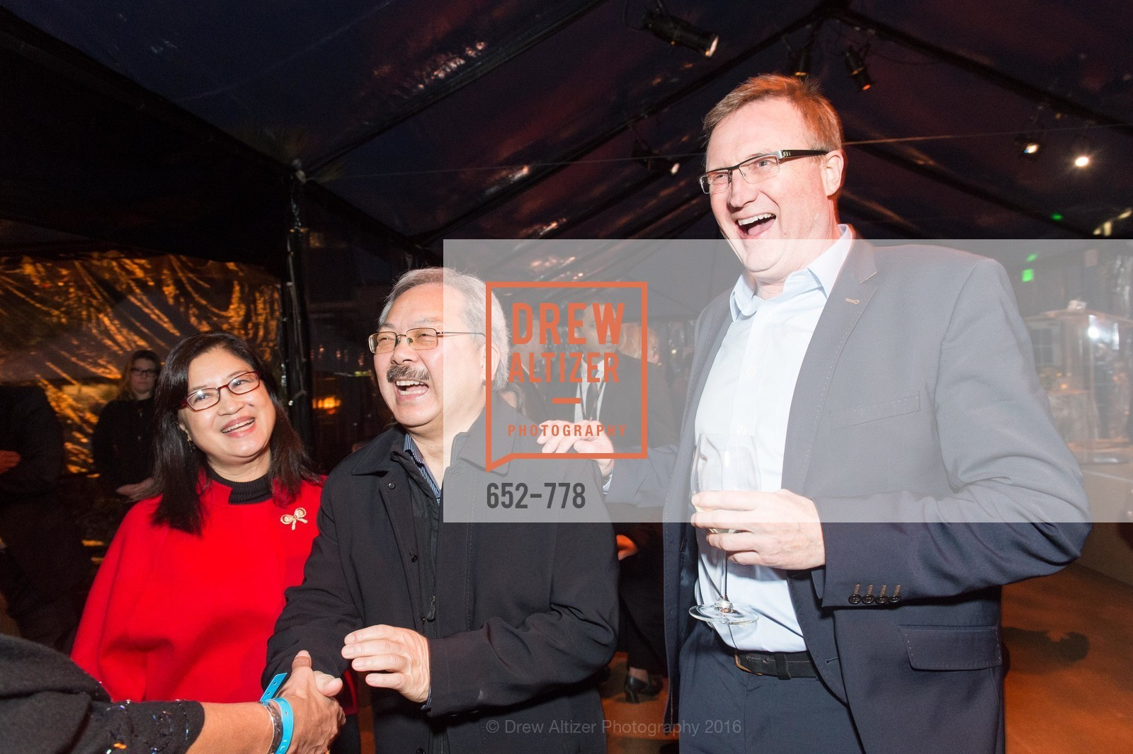 Anita Lee, Ed Lee, Tim Clark, The Bay Lights Grand Relighting Celebration, Epic Steakhouse. 369 The Embarcadero, January 29th, 2016,Drew Altizer, Drew Altizer Photography, full-service agency, private events, San Francisco photographer, photographer california